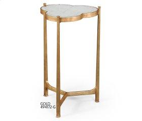 glomise & Gilded Iron Trefoil Lamp Table