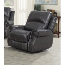 EM1196 Collection - Recliner with Power Headrest USB  Charcoal Gray