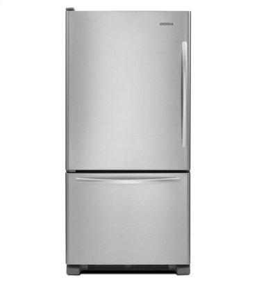 22 Cu. Ft. Standard-Depth Bottom-Freezer Refrigerator, Architect® Series II - Monochromatic Stainless Steel