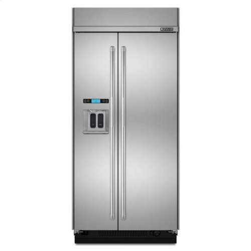 """Jenn-Air® Built-In Side-By-Side Refrigerator with Water Dispenser, 42"""" - Stainless Steel"""