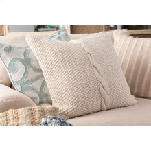 "Genevieve GN-004 18"" x 18"" Pillow Shell with Polyester Insert"