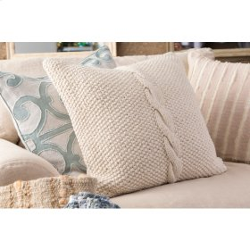 "Amelia AL-003 20"" x 20"" Pillow Shell with Down Insert"