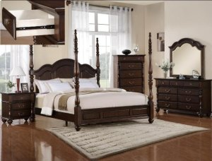 Georgia Queen-Size Poster Bed