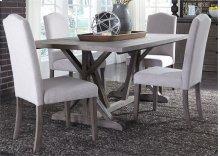 5 Piece Trestle Table Set