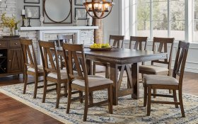 CLEARANCE ITEM--TRESTLE TABLE with 6 Chairs