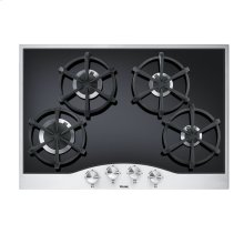 """Stainless Steel/Black 30"""" Gas Cooktop - DGCU (30"""" wide, four burners)"""