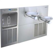 Elkay EZH2O Bottle Filling Station & SwirlFlo Bi-Level Fountain, High Efficiency Non-Filtered 8 GPH Stainless
