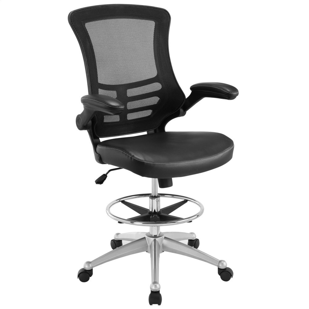 Attainment Vinyl Drafting Chair in Black