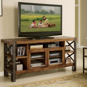 Sierra - 68-inch TV Console - Landmark Worn Oak Finish