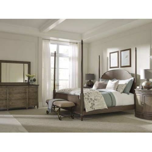Queen Sofia Poster Bed 5/0 Complete