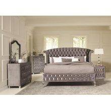 Deanna Bedroom Traditional Metallic Eastern King Four-piece Set
