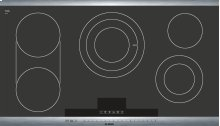 "36"" Stainless Steel Electric Cooktop with SteelTouch Control and AutoChef® 800 Series - Black and Stainless Steel NET8654UC"