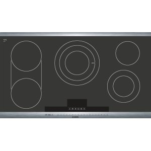 "Bosch36"" Stainless Steel Electric Cooktop with SteelTouch Control and AutoChef(R) 800 Series - Black and Stainless Steel NET8654UC"