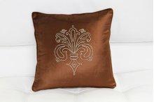 Modrest Brown Elegant Faux Crystal Throw Pillow
