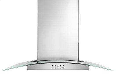 """30"""" Modern Glass Wall Mount Range Hood Product Image"""