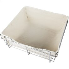 Canvas Basket Liner for POB1-141717 Basket. Features Hook and Loop Fasteners for a Secure Fit. Machine Washable. Tan Canvas