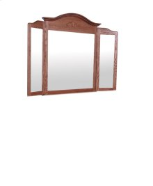 Arch Top Tri-View Mirror, Large