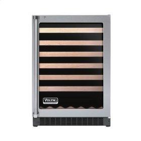 """Stainless Steel 24"""" Glass Door Wine Cellars - VUWC (Right Hinge Clear Door)"""