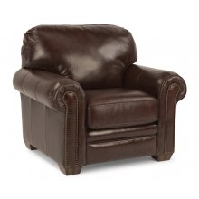 Harrison Leather Chair with Nailhead Trim