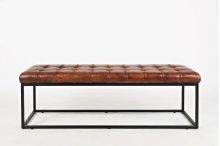 Global Archive Leather Ottoman - Saddle