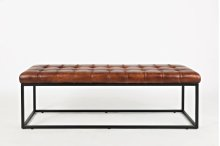 Global Archive Leather Ottoman - Saddle