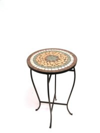 Mosaic Round Side Table/Plant Stand 14x14x21.75 Product Image