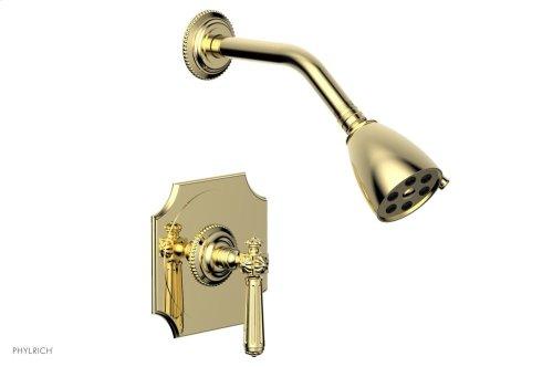 MARVELLE Pressure Balance Shower Set - Lever Handle 162-22 - Polished Brass