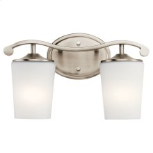 Versailles 2 Light Vanity Light Antique Pewter