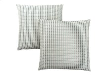 "PILLOW - 18""X 18"" / LIGHT BLUE / GREY ABSTRACT DOT / 2PCS"