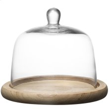 Kingston Domed CakePlate Wood