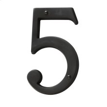 Oil-Rubbed Bronze House Number - 5