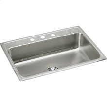 """Elkay Lustertone Classic Stainless Steel 31"""" x 22"""" x 7-5/8"""", Single Bowl Drop-in Sink with Perfect Drain"""