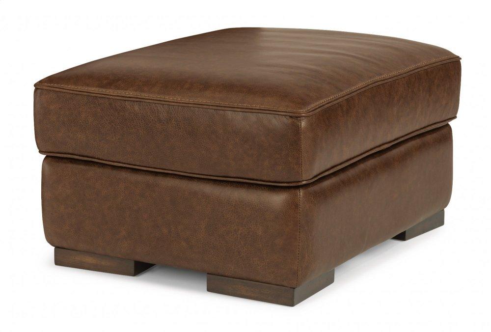 McKinley Leather Ottoman