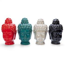 Anja Small Buddha Heads - Ast 4