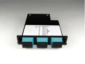 Momentum 2 cassette, 50 micron multimode fiber, 1U, 12 fibers, SC duplex connectors