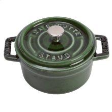 Staub Cast Iron 0.25-qt Mini Round Cocotte, Basil