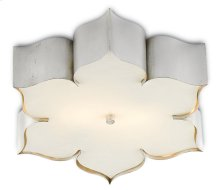 Grand Lotus Silver Flush Mount