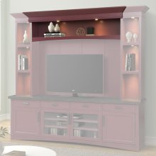 Americana Modern Cranberry Hutch Bridge with LED light