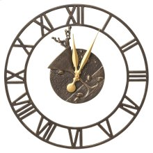 """Martini Floating Ring 21"""" Indoor Outdoor Wall Clock - French Bronze"""