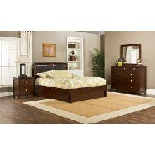 Metro 4pc Cherry Bedroom with Martin Queen Storage Bed