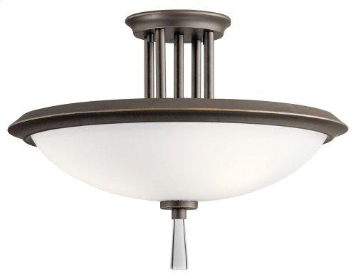 Dreyfus 3 Light Semi Flush Olde Bronze®