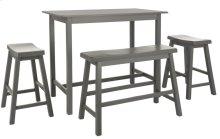 Ronin 4 PC Set Pub Table - Grey