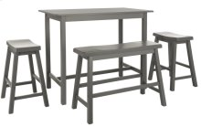 Ronin 4 PC Set Pub Table - Grey
