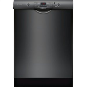 """Bosch24"""" Recessed Handle Dishwasher 300 Series- Black SHE33T56UC"""