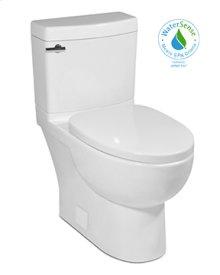 "White MALIBU II Two-Piece Toilet, 10"" Rough-in 1.28gpf, Compact Elongated"