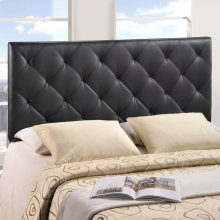 Theodore Queen Upholstered Vinyl Headboard in Black