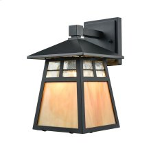 Cottage 1-Light Outdoor Wall Lamp in Matte Black
