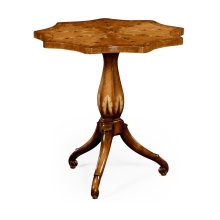 Finely Inlaid Lamp Table with Nine Sided Top