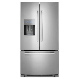 Amana36-inch French Door Bottom-Freezer Refrigerator with Fast Cool Option - stainless steel