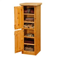 Linen Cabinet - 18-inch - Natural Cedar - Hinge Right
